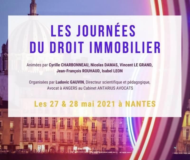 Journées du droit Immobilier Nantes